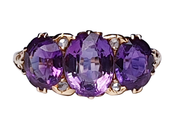 Victorian Amethyst and Rose Diamond Ring  DBGEMS - image 1