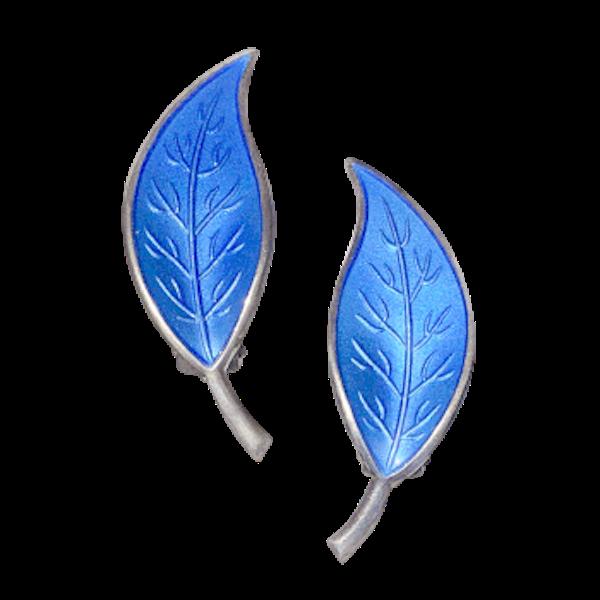 A pair of Enamel Clip Earrings by David Andersen - image 1