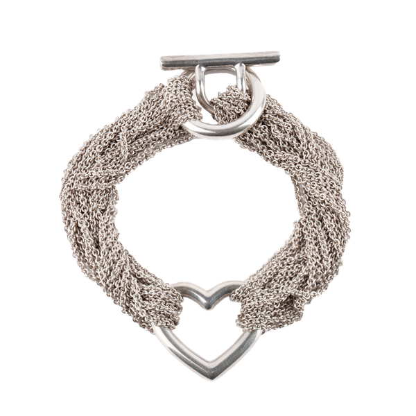 Vintage Tiffany & Co. Bracelet in Silver, Multi-Stranded with Central Heart Motif, *Italian, circa 1990. - image 1