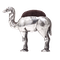An antique silver  camel pin cushion - image 1