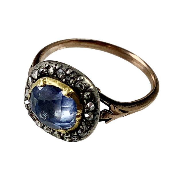1780 sapphire and diamond ring - image 1