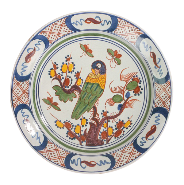 18th.Century Polychrome Delftware Charger - image 1