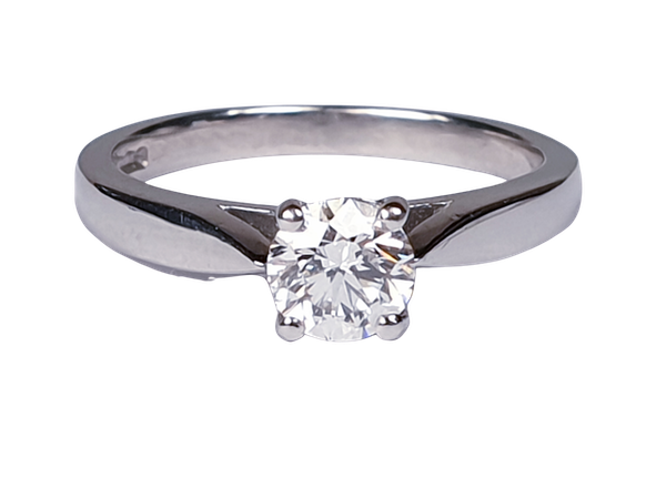 Solitaire Platinum Engagement Ring  DBGEMS - image 1