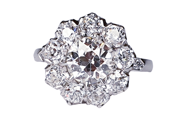 Old Cut Diamond Cluster Ring  DBGEMS - image 1