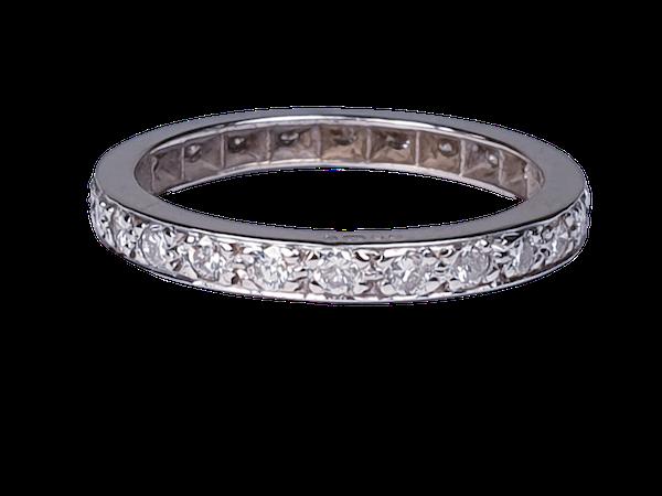 Art Deco Full Hoop Diamond Eternity Ring  DBGEMS - image 1