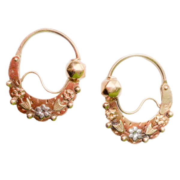 A pair of Gold Gypsy Earrings - image 1