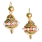 A pair of Gold and Coral Drop Earrings - image 1