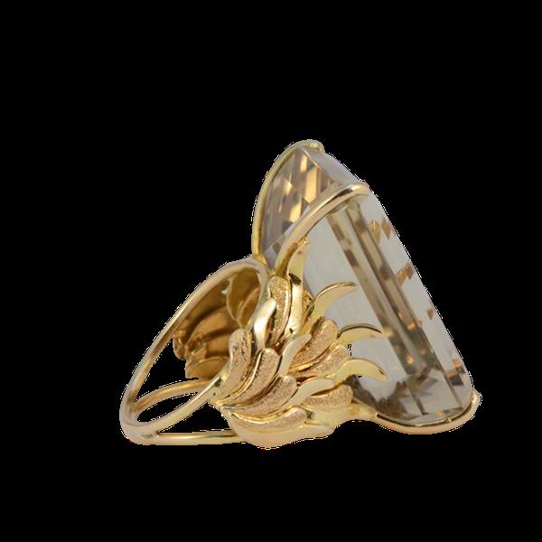 1960's, 18ct Yellow Gold Citrine stone set Ring, SHAPIRO & Co - image 1