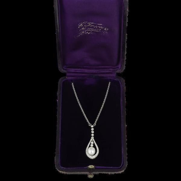 Pearl & Diamond Pendant - image 1