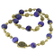 Lapis & Gold Necklace - image 1
