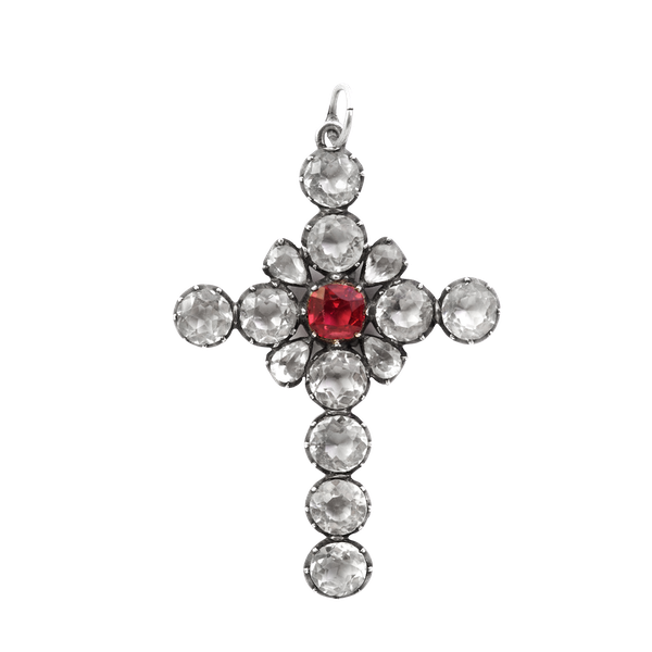 A Nineteenth Century Silver Paste Cross - image 1