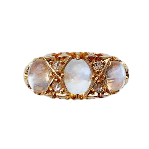 A Victorian Gold Moonstone Ring - image 1