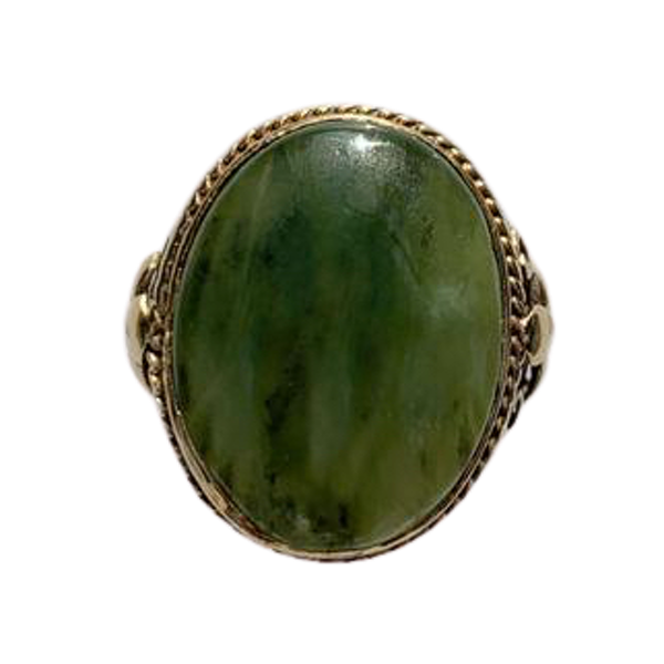 An Antique Connemara Marble Ring - image 1