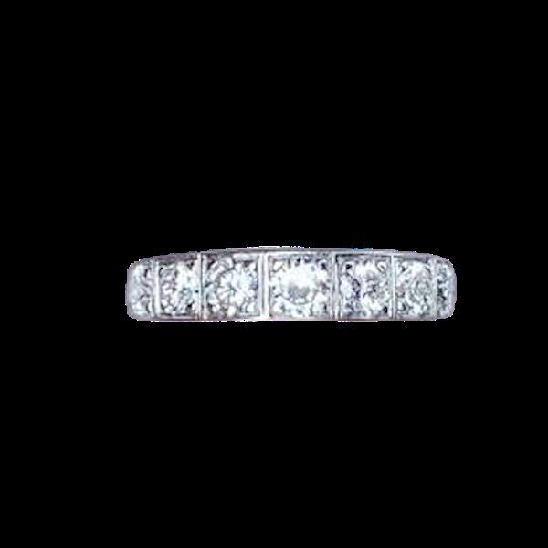 A 1960s Seven Stone Diamond Gold Ring - image 1