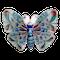 A 1910 Plique-à-jour Silver Butterfly - image 1
