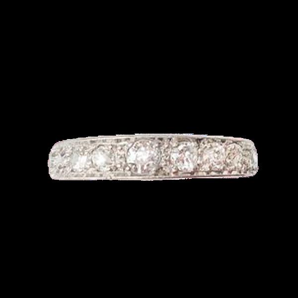 A Diamond Platinum Eternity Ring - image 1