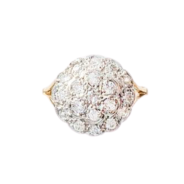 An antique Diamond Cluster Ring - image 1
