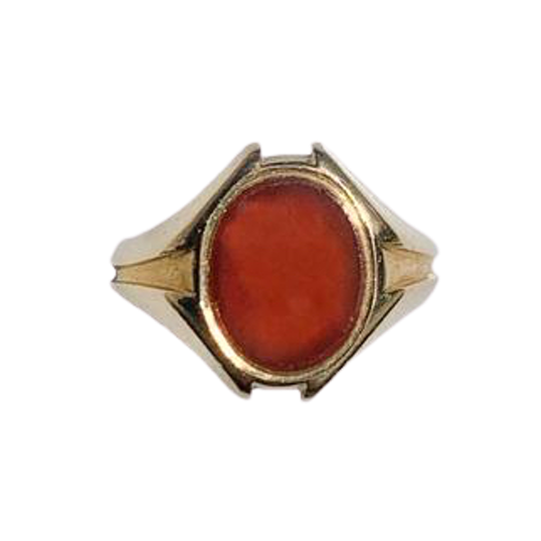 A Carnelian Gold Signet Ring - image 1