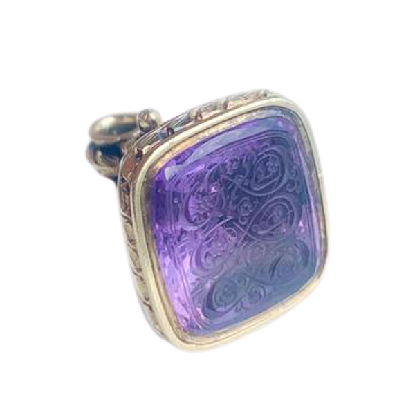 An Amethyst and Gold Seal - image 1
