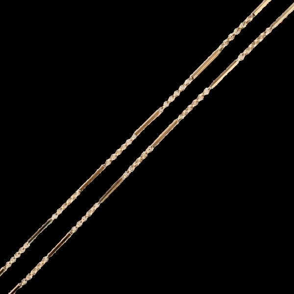 A Victorian Gold Guard Chain - image 1