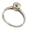 MM6379r Platinum set 1ct single stone diamond ring - image 1