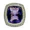 18K white gold 10.32ct Amethyst and Diamond Ring - image 1