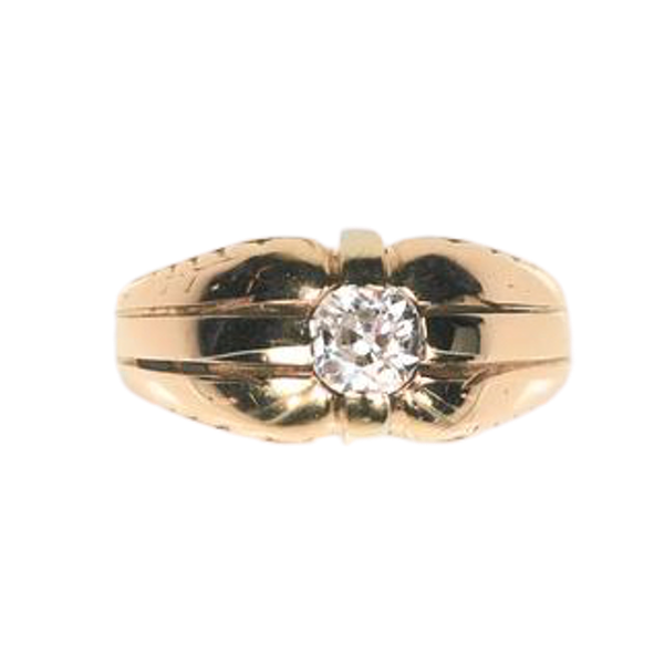 A 1940s Solitaire Diamond Ring - image 1