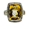 14K white gold Citrine and Diamond Ring - image 1