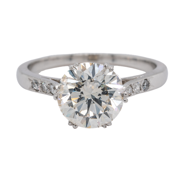 Platinum 2.23ct Diamond  Solitaire Engagement Ring - image 3