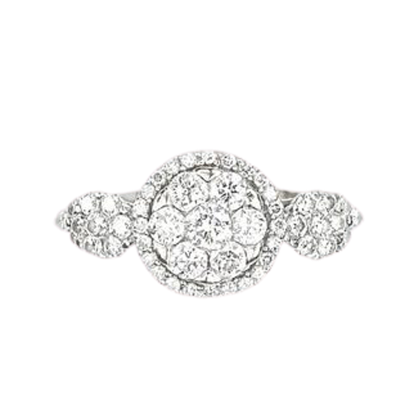 A 1980s Diamond Daisy Cluster Ring - image 1