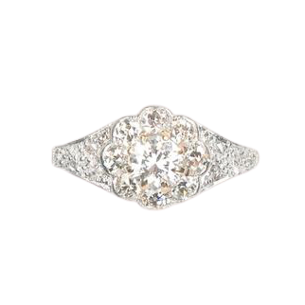 An antique Diamond Daisy Ring - image 1