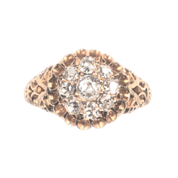 An Openwork top Diamond Cluster Ring - image 1