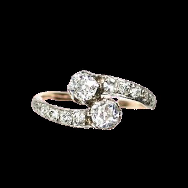 A 1900 Toi et Moi Ring - image 1