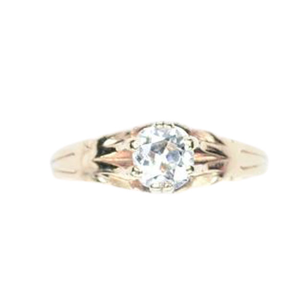 An antique Diamond Solitaire Ring - image 1