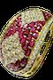 18K yellow gold 40.00ct Natural Ruby and 18.00ct Diamond Bangle - image 2