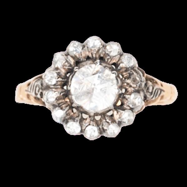 An 1860 Dutch Rose Diamond Ring - image 1