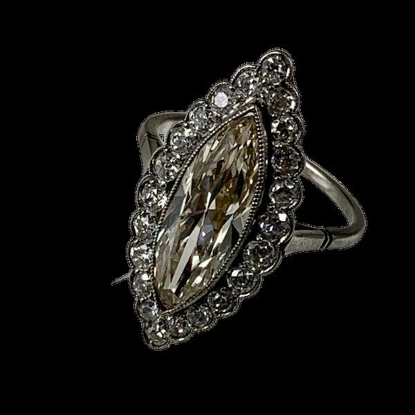Edwardian platinum ring with over 2 carat diamond - image 1
