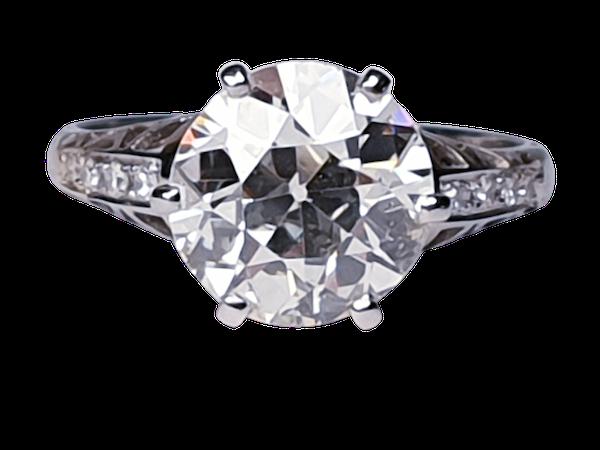 2.61ct old European transitional cut diamond engagement ring  DBGEMS - image 1