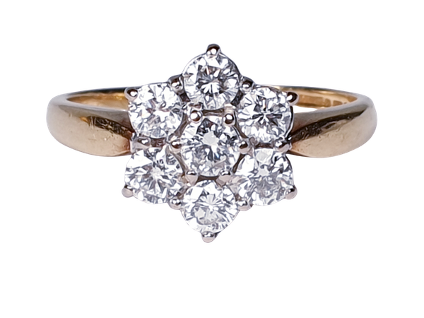 Vintage Diamond Cluster Ring  DBGEMS - image 1