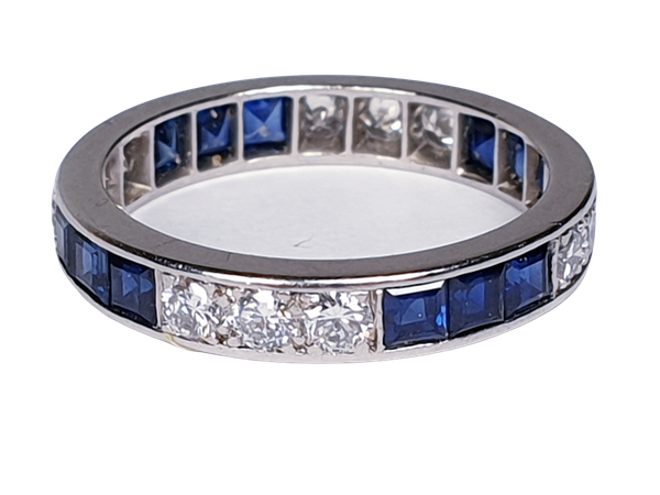 Sapphire and diamond eternity ring  DBGEMS - image 1