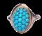 Victorian Turquoise Bombe Ring  DBGEMS - image 1