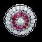 Burma ruby and diamond target brooch - image 1