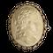 A rare Italian Neo Classical Lava Cameo Brooch - image 1