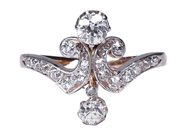 Art Nouveau Diamond Ring  DBGEMS - image 1