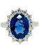 18K white gold 5.02ct Natural Blue Sapphire and 0.80ct Diamond Ring - image 1