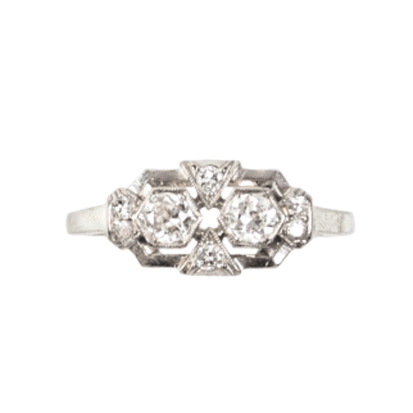 An Art Deco Diamond Ring - image 1