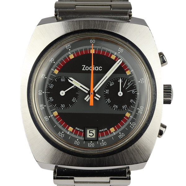 Zodiac Men's Vintage Chronograph Date 1970s Stainless Steel - image 1