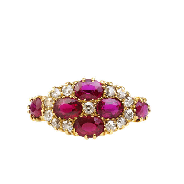 An Antique Ruby and Diamond Ring - image 4