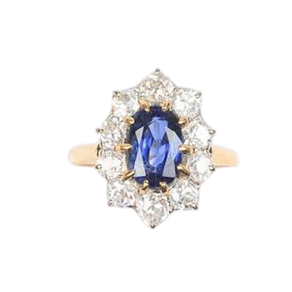 A 1940s Sapphire and Diamond Ring - image 1