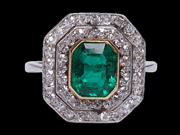 art deco columbian emerald and diamond  DBGEMS - image 1